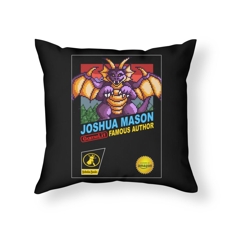 Joshua Mason, Famous Author Home Throw Pillow by steamwhistlealley's Artist Shop