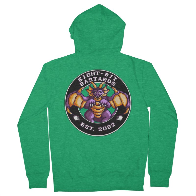 Eight-Bit Bastards Men's French Terry Zip-Up Hoody by steamwhistlealley's Artist Shop