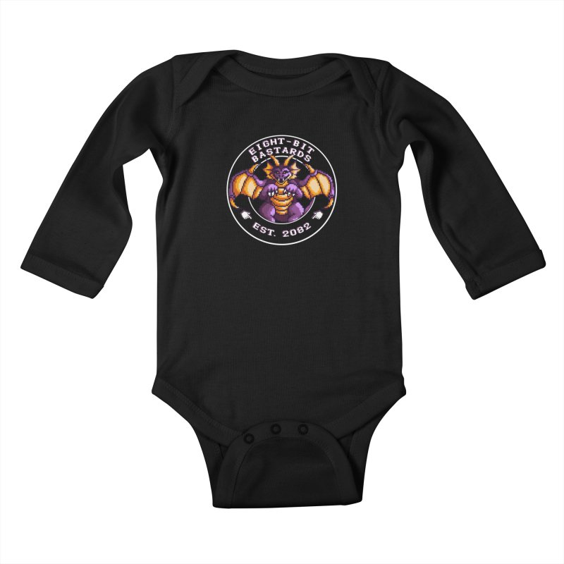 Eight-Bit Bastards Kids Baby Longsleeve Bodysuit by steamwhistlealley's Artist Shop