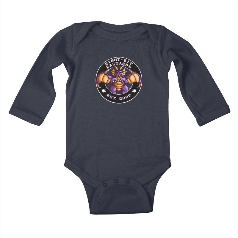 Eight-Bit Bastards Kids Baby Longsleeve Bodysuit by steamwhistlealley's Artist Shop