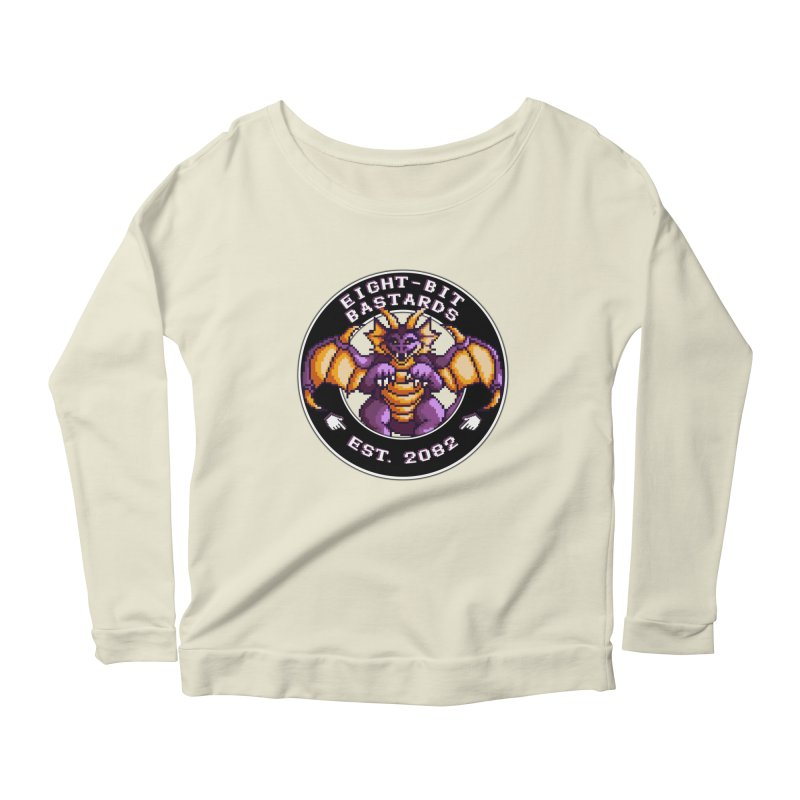 Eight-Bit Bastards Women's Scoop Neck Longsleeve T-Shirt by steamwhistlealley's Artist Shop