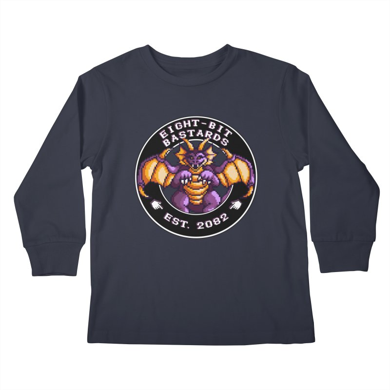 Eight-Bit Bastards Kids Longsleeve T-Shirt by steamwhistlealley's Artist Shop