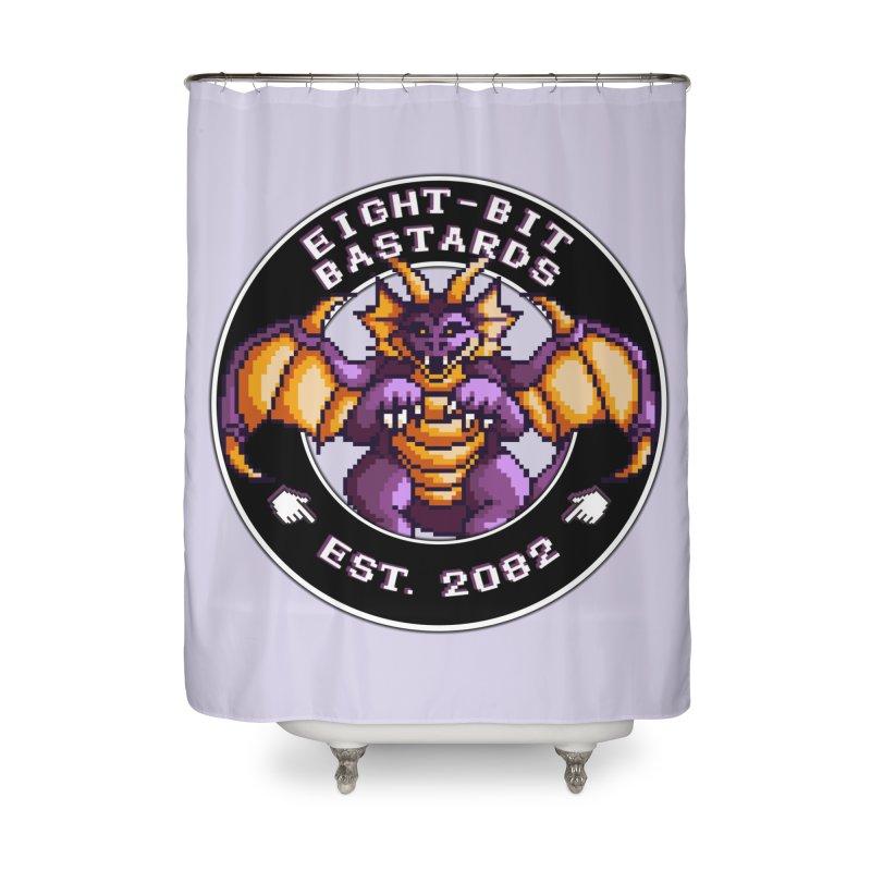 Eight-Bit Bastards Home Shower Curtain by steamwhistlealley's Artist Shop