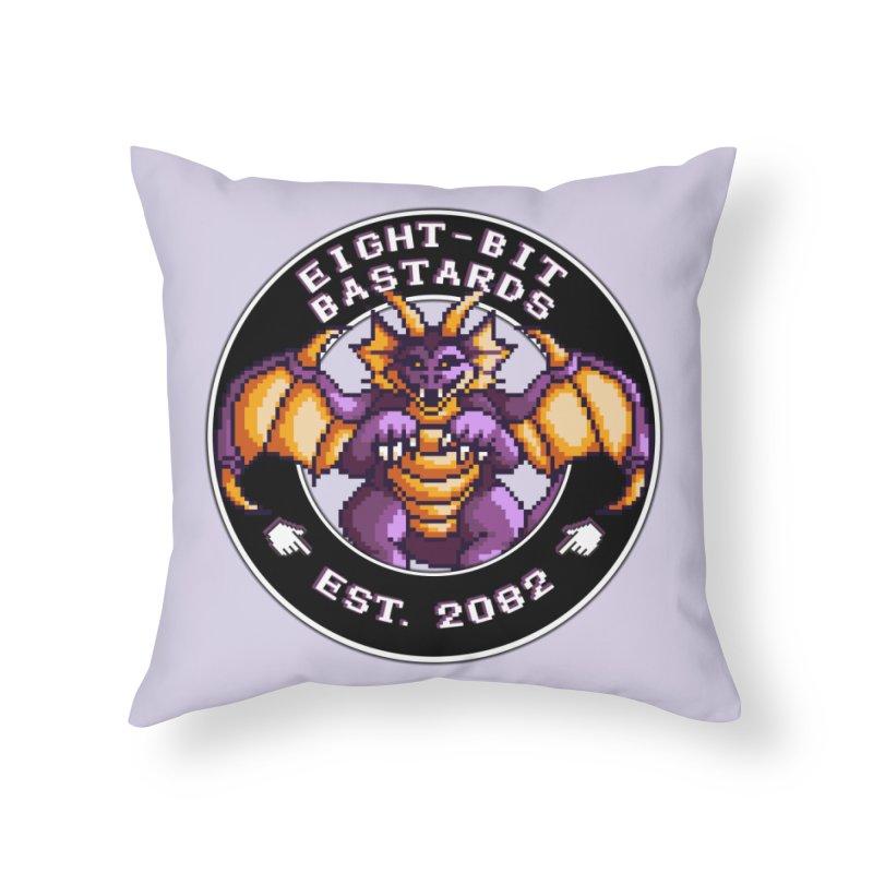 Eight-Bit Bastards Home Throw Pillow by steamwhistlealley's Artist Shop