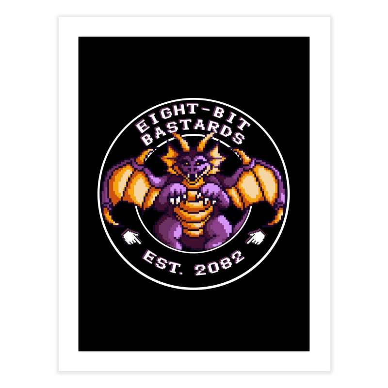 Eight-Bit Bastards Home Fine Art Print by steamwhistlealley's Artist Shop
