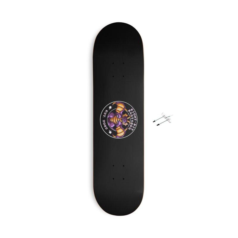 Eight-Bit Bastards Accessories Skateboard by steamwhistlealley's Artist Shop