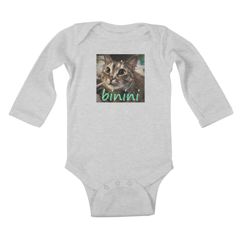 Binini Kids Baby Longsleeve Bodysuit by steamwhistlealley's Artist Shop
