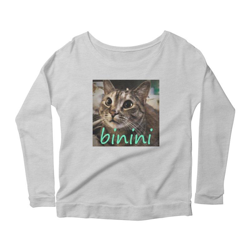 Binini Women's Scoop Neck Longsleeve T-Shirt by steamwhistlealley's Artist Shop