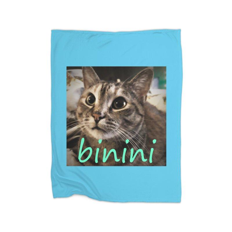Binini Home Fleece Blanket Blanket by steamwhistlealley's Artist Shop