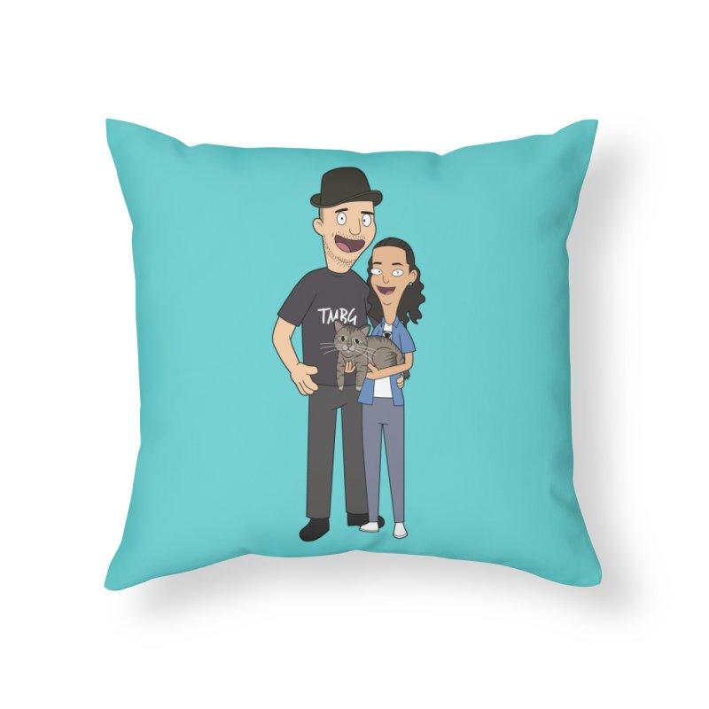Bukacu Home Throw Pillow by steamwhistlealley's Artist Shop