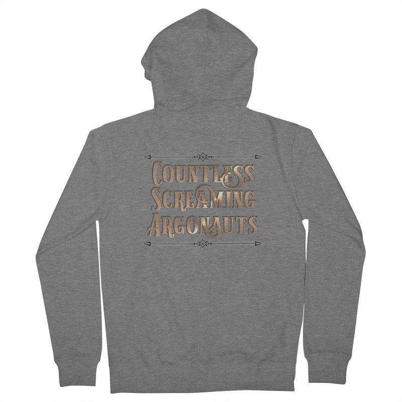 Countless Screaming Argonauts Women's French Terry Zip-Up Hoody by steamwhistlealley's Artist Shop