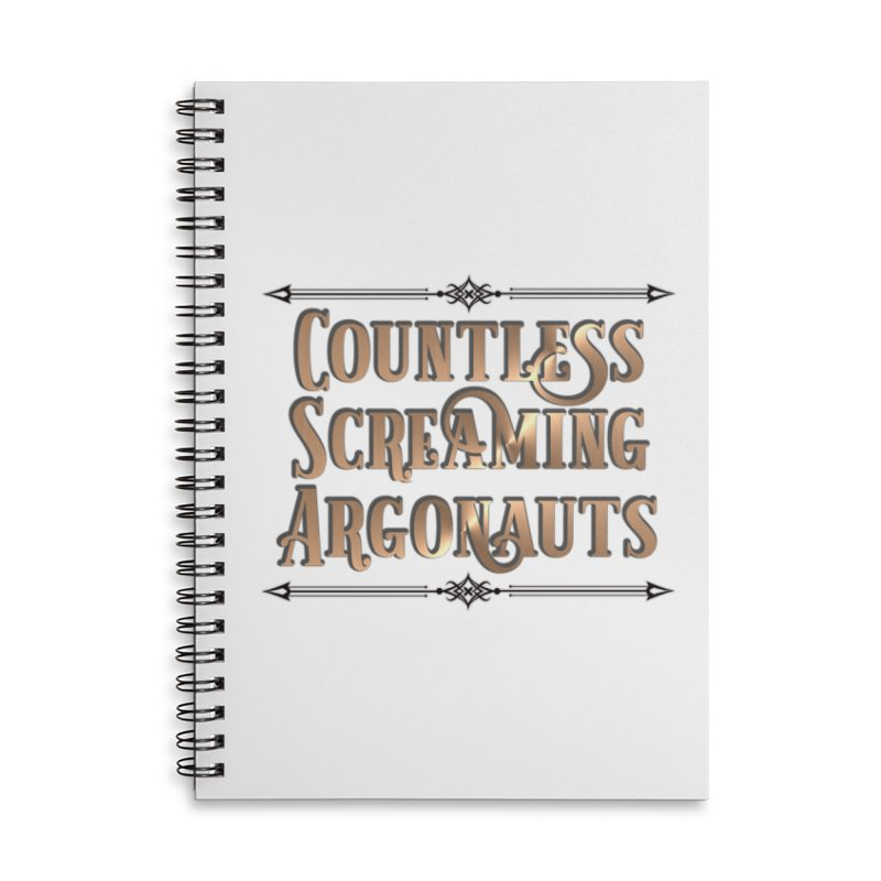Countless Screaming Argonauts Accessories Lined Spiral Notebook by steamwhistlealley's Artist Shop