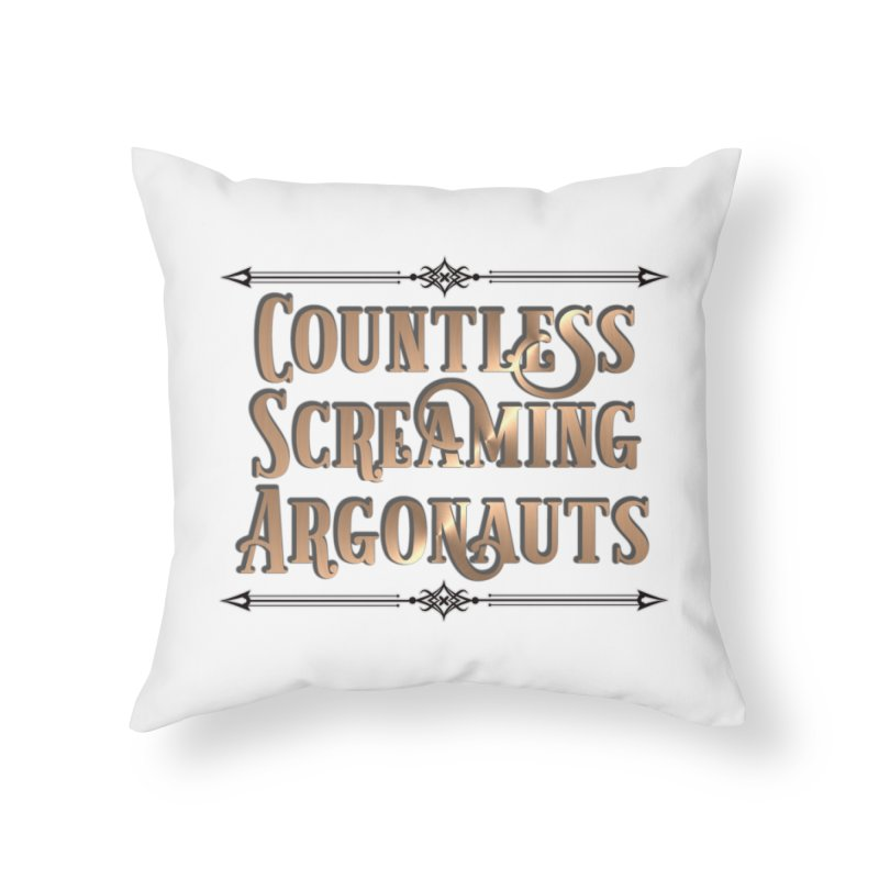 Countless Screaming Argonauts Home Throw Pillow by steamwhistlealley's Artist Shop
