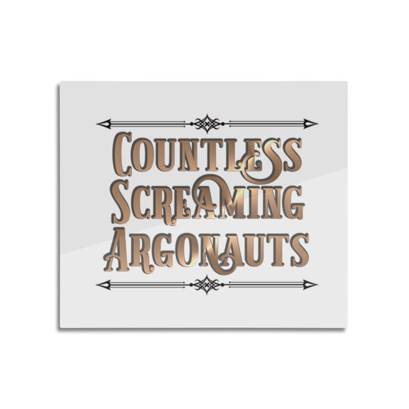 Countless Screaming Argonauts Home Mounted Aluminum Print by steamwhistlealley's Artist Shop
