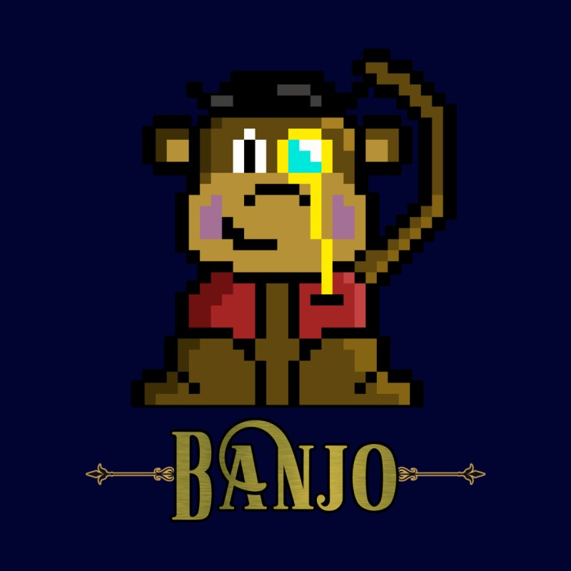 Banjo the Biosynthetic Monkey Accessories Zip Pouch by steamwhistlealley's Artist Shop