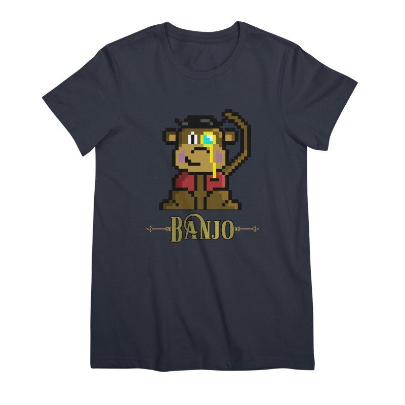 Banjo the Biosynthetic Monkey Women's Premium T-Shirt by steamwhistlealley's Artist Shop