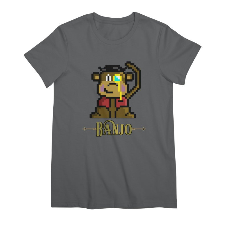 Banjo the Biosynthetic Monkey Women's Premium T-Shirt by steamwhistlealley's Artist Shop