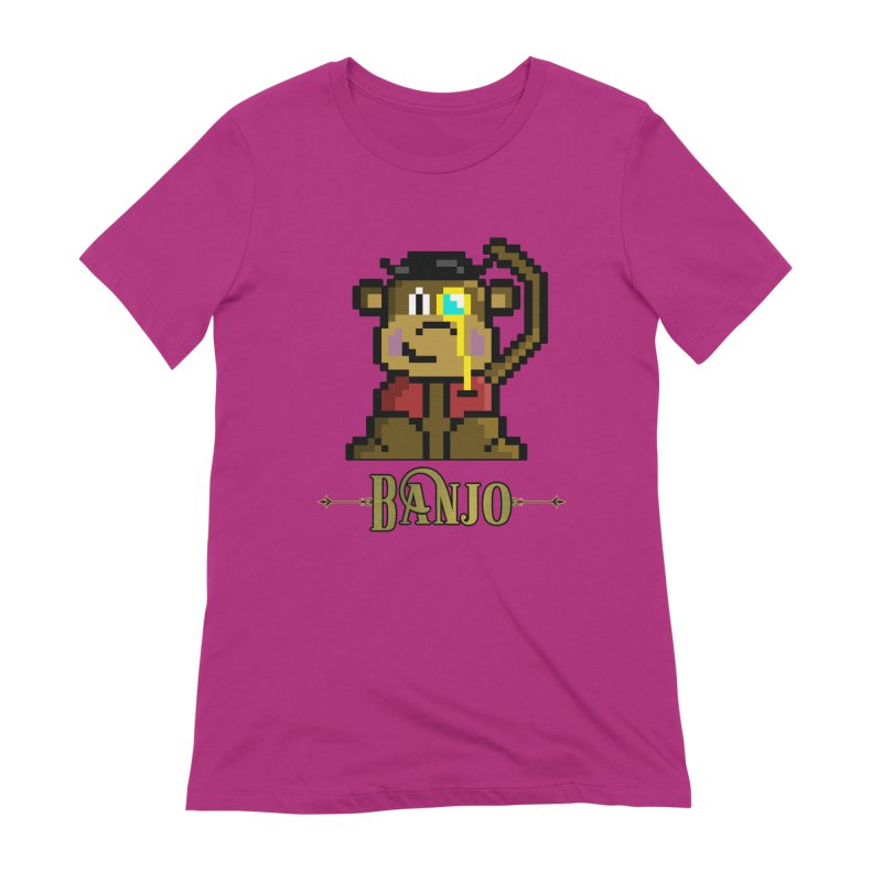 Banjo the Biosynthetic Monkey Women's Extra Soft T-Shirt by steamwhistlealley's Artist Shop
