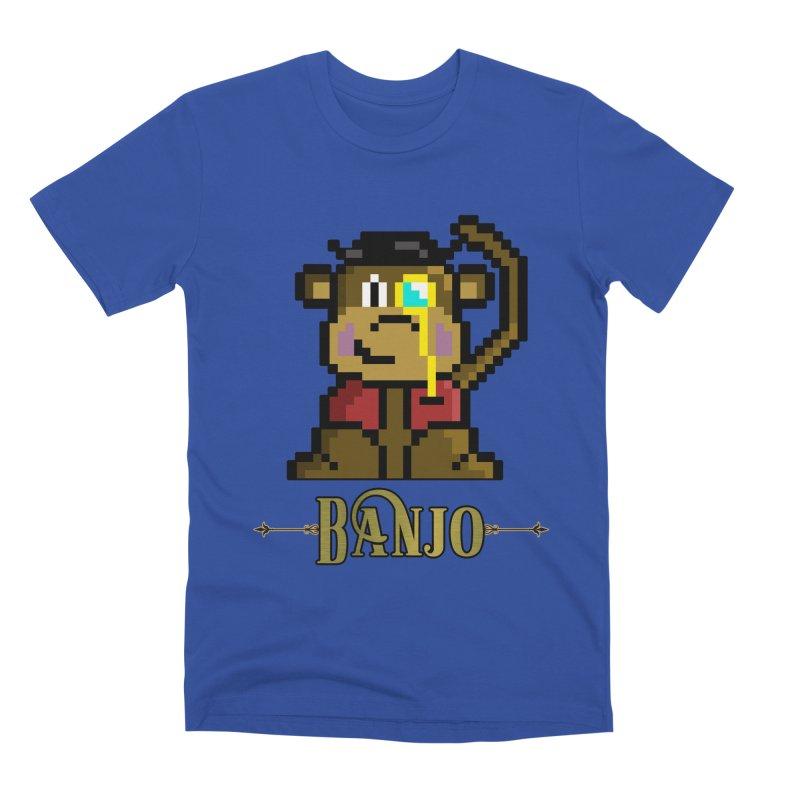 Banjo the Biosynthetic Monkey Men's Premium T-Shirt by steamwhistlealley's Artist Shop