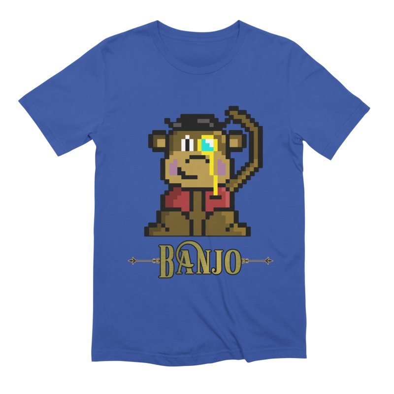 Banjo the Biosynthetic Monkey Men's Extra Soft T-Shirt by steamwhistlealley's Artist Shop