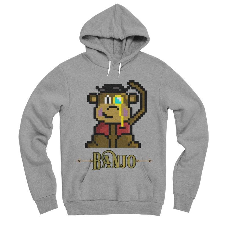 Banjo the Biosynthetic Monkey Women's Sponge Fleece Pullover Hoody by steamwhistlealley's Artist Shop