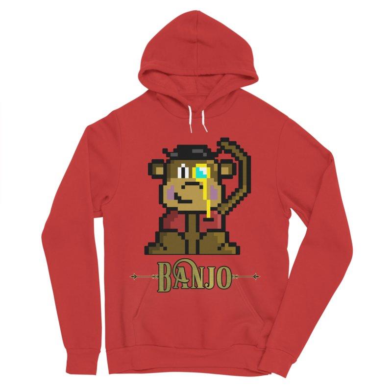 Banjo the Biosynthetic Monkey Women's Pullover Hoody by steamwhistlealley's Artist Shop