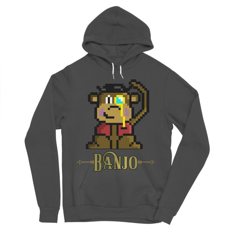 Banjo the Biosynthetic Monkey Men's Sponge Fleece Pullover Hoody by steamwhistlealley's Artist Shop