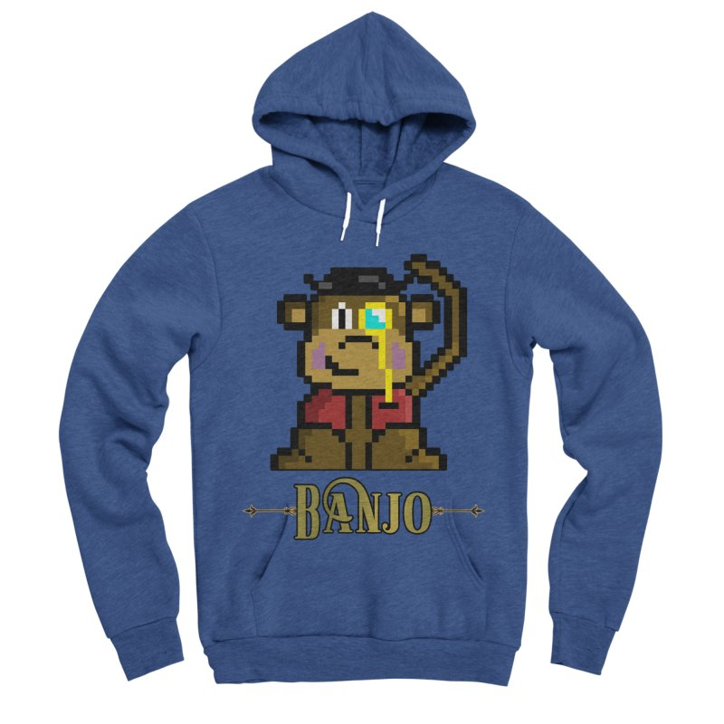 Banjo the Biosynthetic Monkey Women's Sponge Fleece Pullover Hoody by steamwhistlealley's Artist Shop