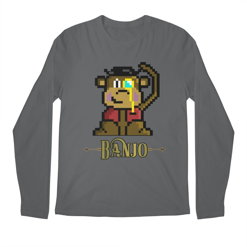 Banjo the Biosynthetic Monkey Men's Longsleeve T-Shirt by steamwhistlealley's Artist Shop