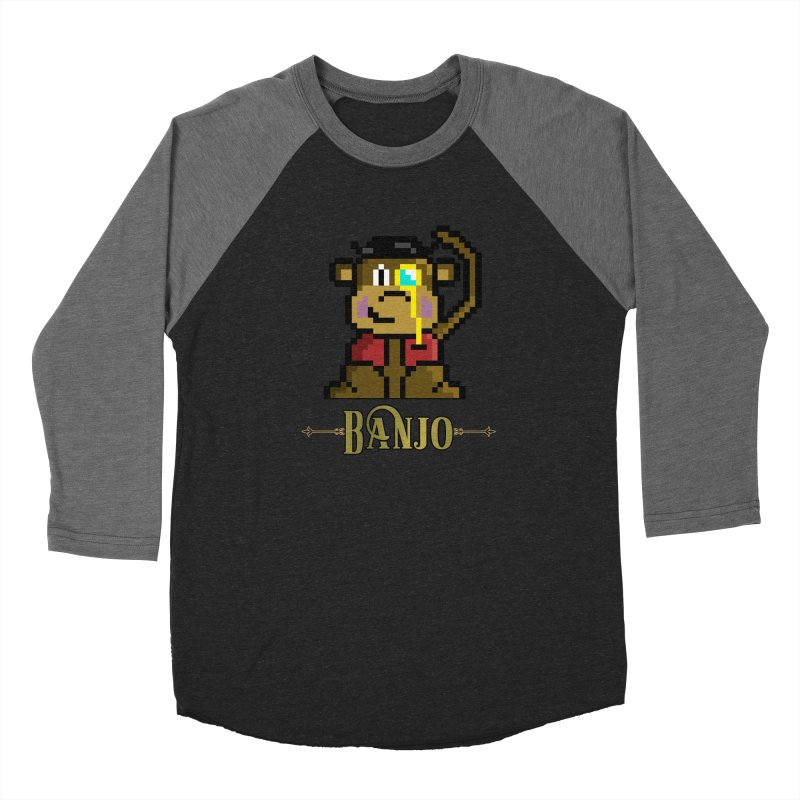 Banjo the Biosynthetic Monkey Men's Baseball Triblend Longsleeve T-Shirt by steamwhistlealley's Artist Shop