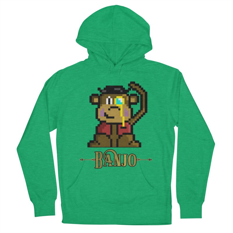 Banjo the Biosynthetic Monkey Women's French Terry Pullover Hoody by steamwhistlealley's Artist Shop