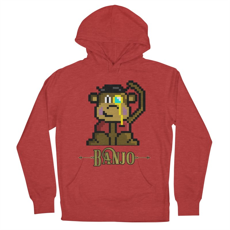 Banjo the Biosynthetic Monkey Men's French Terry Pullover Hoody by steamwhistlealley's Artist Shop