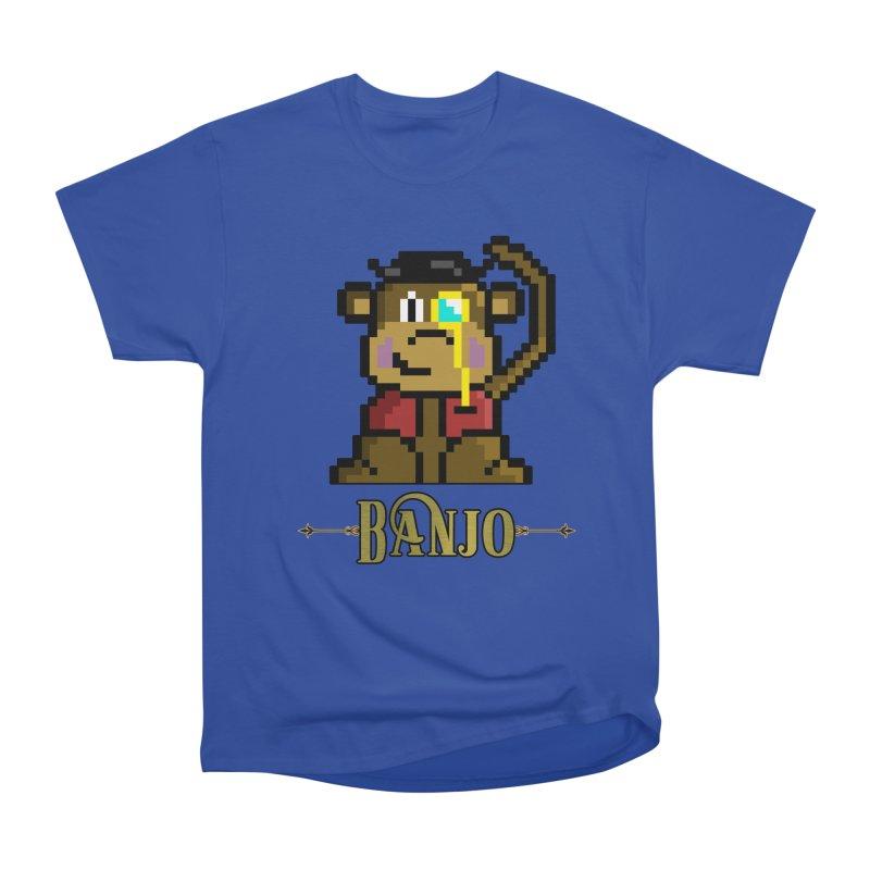 Banjo the Biosynthetic Monkey Men's Heavyweight T-Shirt by steamwhistlealley's Artist Shop