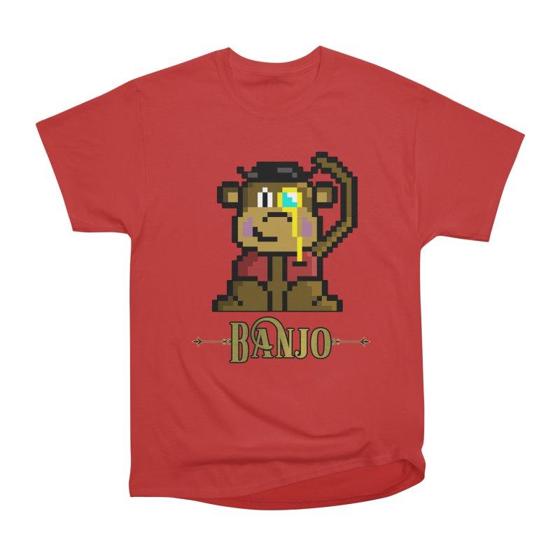 Banjo the Biosynthetic Monkey Women's Heavyweight Unisex T-Shirt by steamwhistlealley's Artist Shop