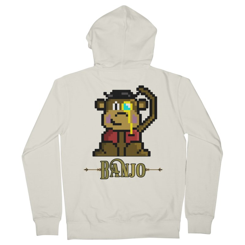 Banjo the Biosynthetic Monkey Women's French Terry Zip-Up Hoody by steamwhistlealley's Artist Shop