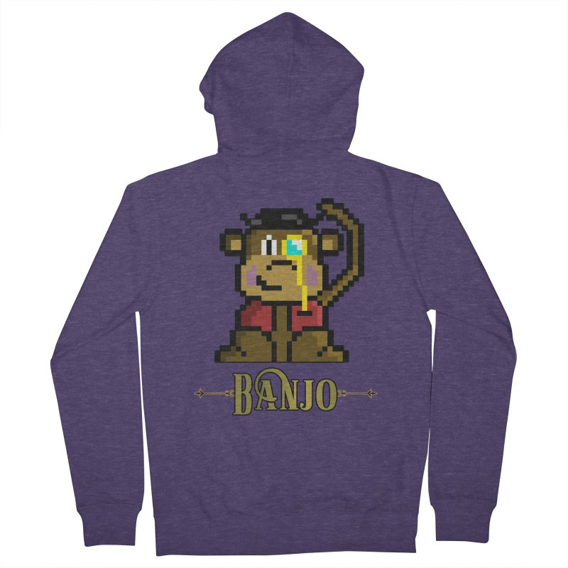Banjo the Biosynthetic Monkey Men's French Terry Zip-Up Hoody by steamwhistlealley's Artist Shop