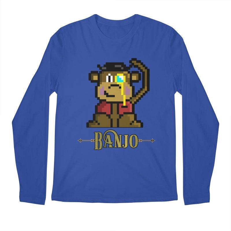 Banjo the Biosynthetic Monkey Men's Regular Longsleeve T-Shirt by steamwhistlealley's Artist Shop
