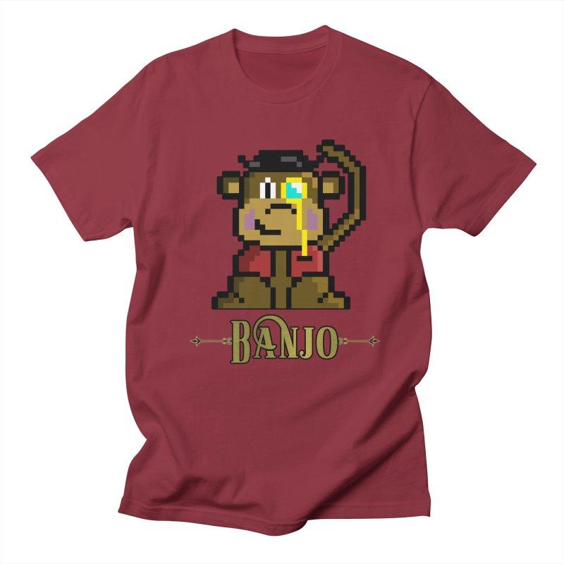 Banjo the Biosynthetic Monkey Women's Regular Unisex T-Shirt by steamwhistlealley's Artist Shop