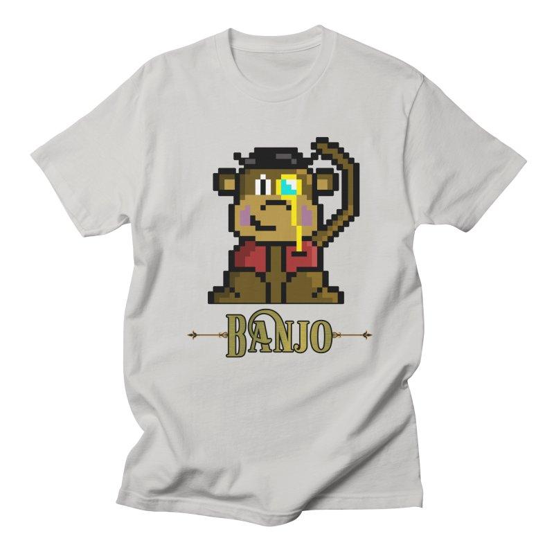 Banjo the Biosynthetic Monkey Men's Regular T-Shirt by steamwhistlealley's Artist Shop