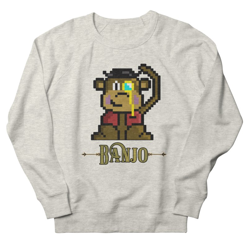 Banjo the Biosynthetic Monkey Men's French Terry Sweatshirt by steamwhistlealley's Artist Shop