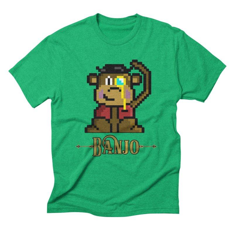 Banjo the Biosynthetic Monkey Men's Triblend T-Shirt by steamwhistlealley's Artist Shop