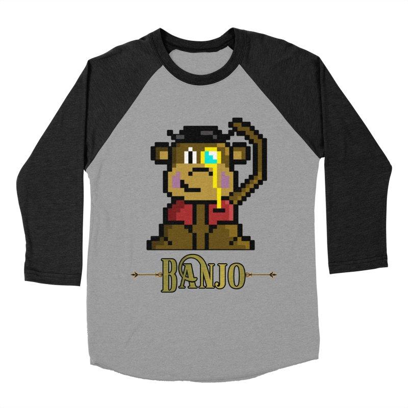 Banjo the Biosynthetic Monkey Women's Baseball Triblend Longsleeve T-Shirt by steamwhistlealley's Artist Shop