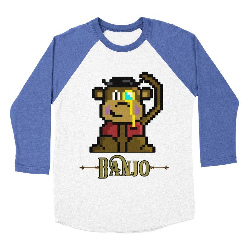 Banjo the Biosynthetic Monkey Men's Baseball Triblend Longsleeve T-Shirt by steamwhistlealley's Artist Shop