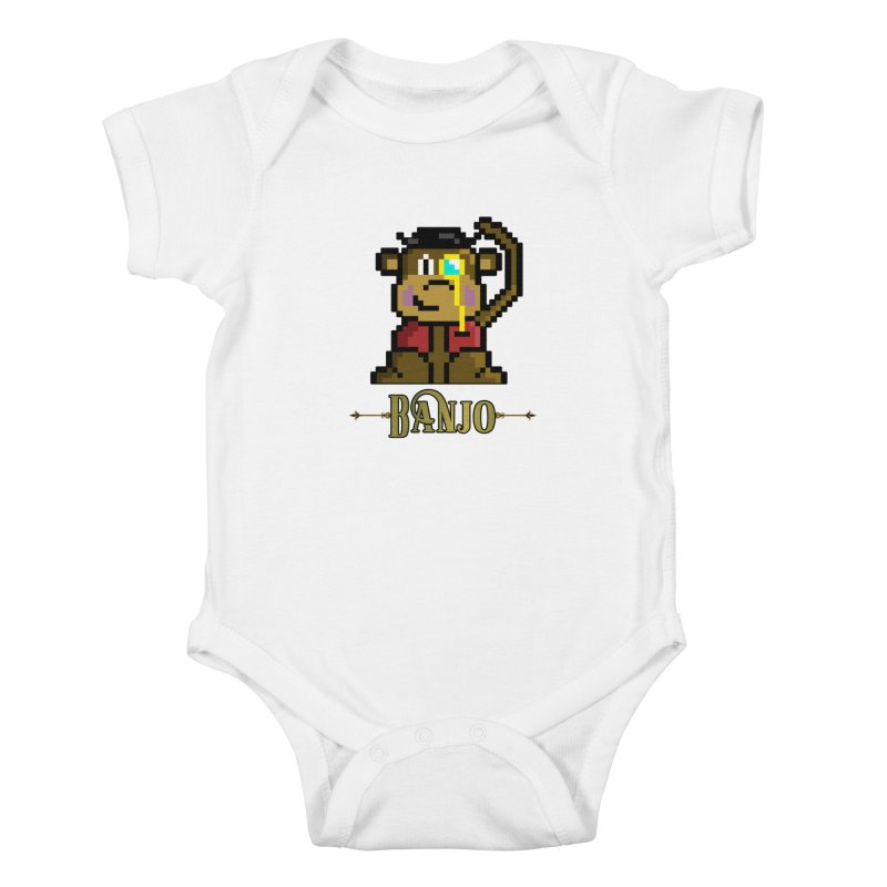 Banjo the Biosynthetic Monkey Kids Baby Bodysuit by steamwhistlealley's Artist Shop