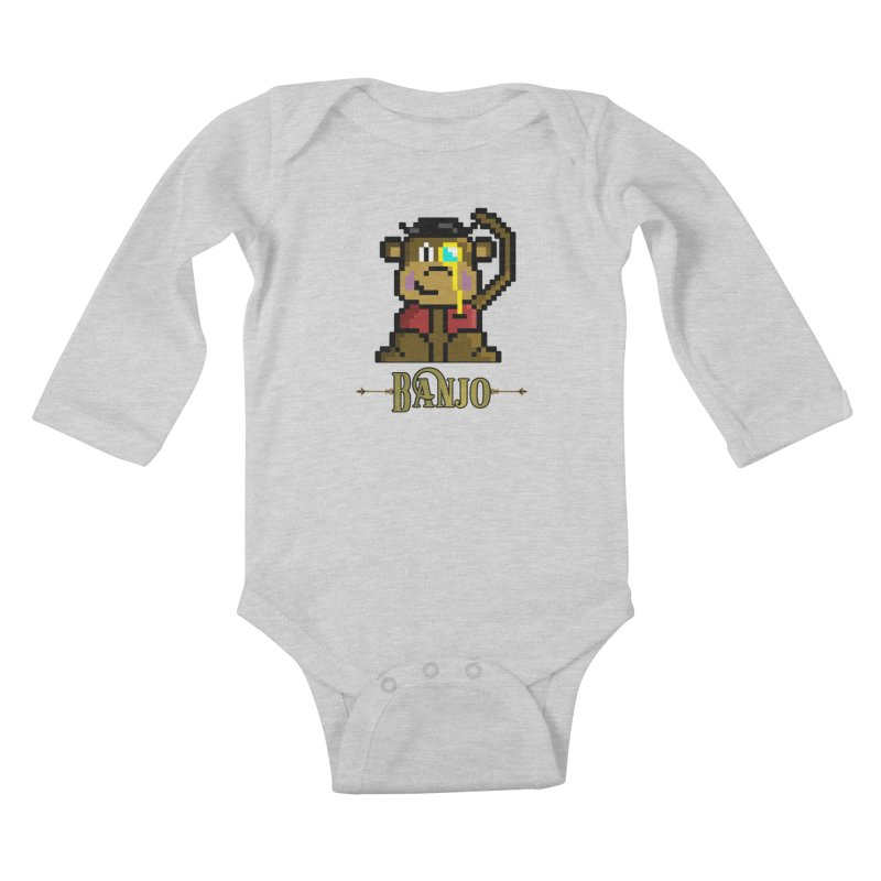 Banjo the Biosynthetic Monkey Kids Baby Longsleeve Bodysuit by steamwhistlealley's Artist Shop