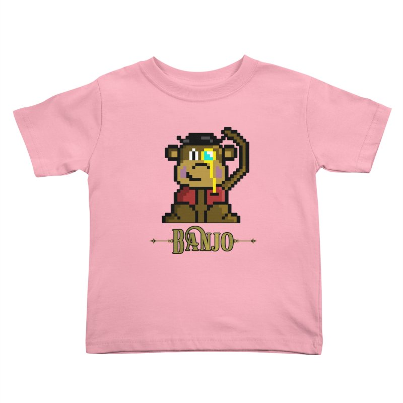 Banjo the Biosynthetic Monkey Kids Toddler T-Shirt by steamwhistlealley's Artist Shop