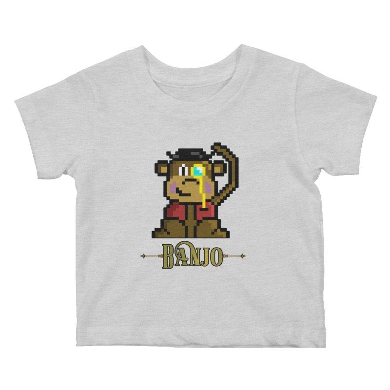 Banjo the Biosynthetic Monkey Kids Baby T-Shirt by steamwhistlealley's Artist Shop
