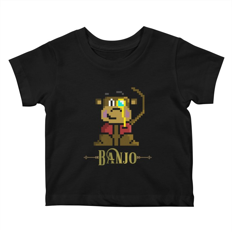 Banjo the Biosynthetic Monkey Kids Baby T-Shirt by steamwhistlealley's Artist Shop