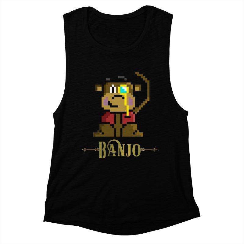 Banjo the Biosynthetic Monkey Women's Muscle Tank by steamwhistlealley's Artist Shop