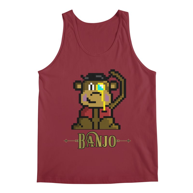 Banjo the Biosynthetic Monkey Men's Tank by steamwhistlealley's Artist Shop